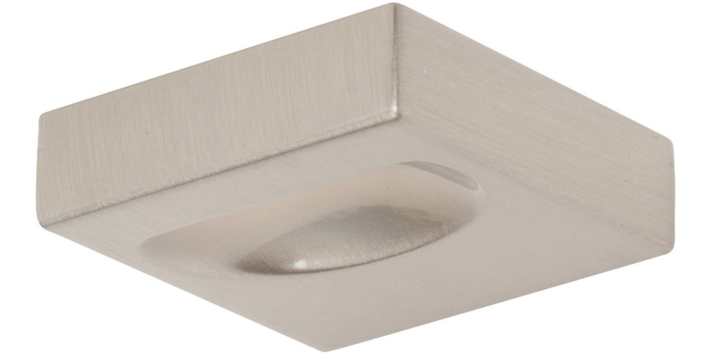 Thin Square Knob 1 1/4 Inch - Brushed Nickel