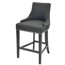 Charlotte Fabric Counter Stool, Charcoal