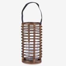Round Lantern - Brown