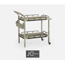 Rustic Grey Bar Cart