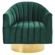 Cortina Accent Chair in Green & Gold