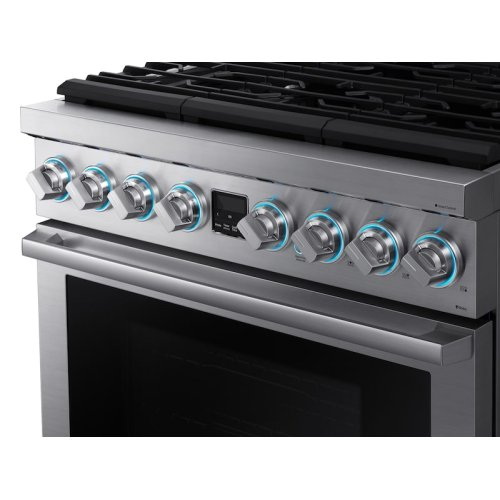 "6.3 cu. ft. 36"" Chef Collection Professional Dual Fuel Range in Stainless Steel"