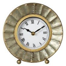 Galvanized Fluted Desk Clock