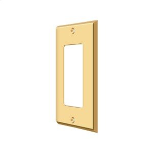 Switch Plate, Single Rocker - PVD Polished Brass Product Image