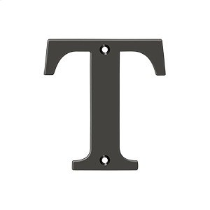 """4"""" Residential Letter T - Oil-rubbed Bronze Product Image"""