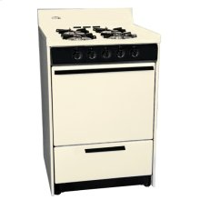 """Bisque Gas Range In Slim 24"""" Width With Electronic Ignition, Replaces the Stm6107"""