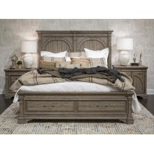 Complete King Panel Storage Bed