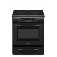Slide-In Gas Range Thermal Oven Frameless Cooktop Full-Width Cast-Iron Grates Four Sealed Burners Architect® Series II
