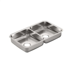 "2000 Series 31-1/4""x18"" stainless steel 20 gauge double bowl sink Product Image"