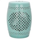 Quatrefoil Garden Stool - Light Blue Product Image