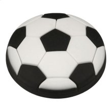 Kids Black Soccer Ball Cabinet Knob