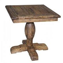 Reclaimed Elm Pedestal End Table
