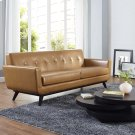 Engage Bonded Leather Sofa in Tan Product Image