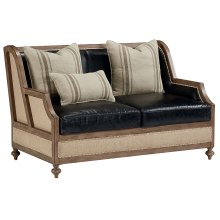 Old Saddle Black Foundation Loveseat