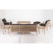 Bethany Eucalyptus FSC KD Deep Seat Lounge Chair w/ Sunbrella Cast Ash cush