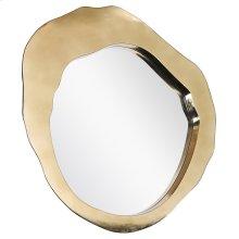 MILLER MIRROR- GOLD  Gold Finish on Metal Frame  Plain Glass Beveled Mirror