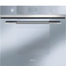 "76CM (30"") ""Linea"" Electric Multifunction Oven Silver Glass and Super Silver Glass"