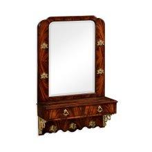 Victorian style crotch mahogany hall mirror