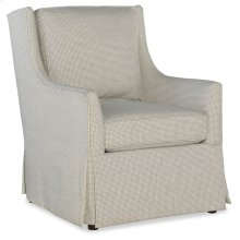 Domestic Living Room Hand Over Heart Skirted Club Chair