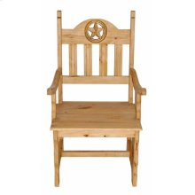 Wood Seat Open Star Arm Chair