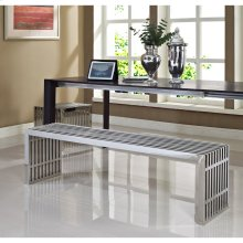 Gridiron Benches Set of 2 in Silver