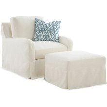 Halsey Slipcovered Chair and Ottoman