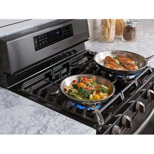5.8 cu. ft. Freestanding Gas Range with Convection in Black Stainless Steel