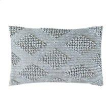 """Karina Woven Diamond Lumbar Pillow (21"""" X 13"""") - Oatmeal"""