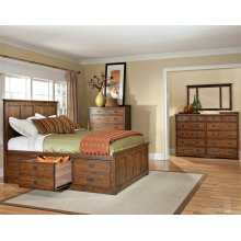 Oak Park King Captains Bed