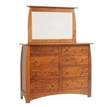 Bordeaux High Dresser- 1in Bevel Mirror