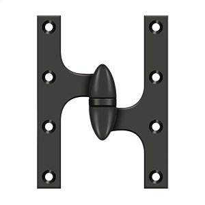 """6"""" x 4 1/2"""" Hinge - Oil-rubbed Bronze Product Image"""