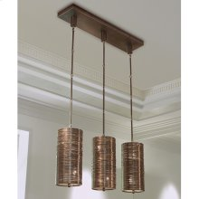 Coil 3 Light Pendant-Bronze