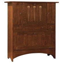 Bottom Door Concealed Storage, Oak Harvey Ellis Fall Front Bar