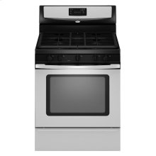 30-inch Self-Cleaning Freestanding Gas Range with Five Burners and Full-Width Satin-Finish Cast-Iron Grates