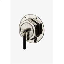 Regulator Thermostatic Control Valve Trim with Black Lever Handle STYLE: RGTH10