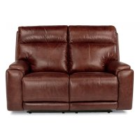 Sienna Leather Power Reclining Loveseat with Power Headrests Product Image