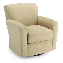 2888-23243  Swivel Barrel Chair, Cobblestone & Gravel