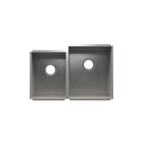 """UrbanEdge® 003651 - undermount stainless steel Kitchen sink , 12"""" × 16"""" × 8""""  15"""" × 18"""" × 10"""""""