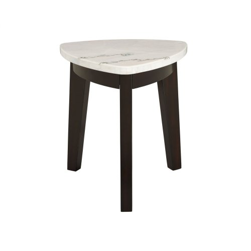 """Francis Marble Top Cocktail Tbl w/Casters 34""""x34""""x18"""""""