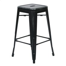 "Bristow 26"" Antique Metal Barstools, Antique Black, 2-pack"