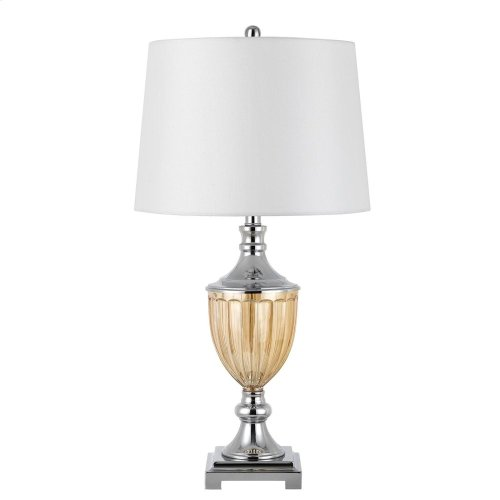 150W 3 Way Derby Metal/Glass Table Lamp. Sold And Priced In Pairs