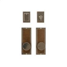 "Flute Entry Set - 3"" x 8"" Silicon Bronze Brushed"