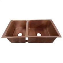 Sonora Double Bowl Copper Undermount Kitchen Sink