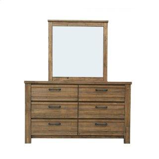 Salvage Loft Dresser and Mirror