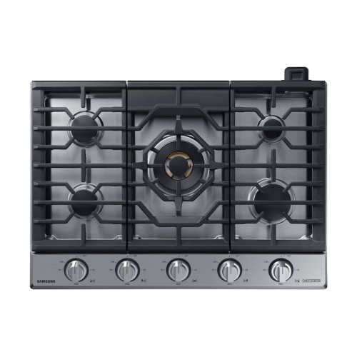 """30"""" Chef Collection Gas Cooktop with 22K BTU Dual Power Burner in Stainless Steel"""