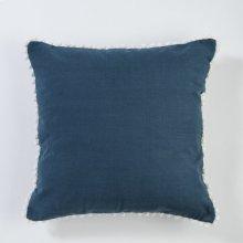 Pom Pom Pillow - Navy