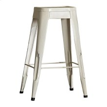 "29"" Metal Stool, White"