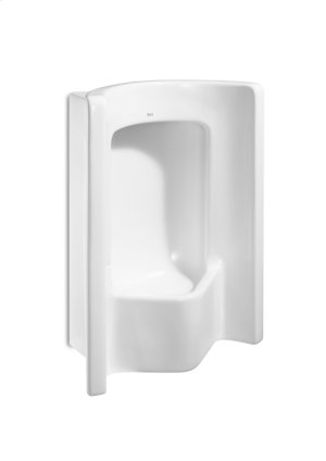 White Vitreous china frontal urinal with back inlet Product Image