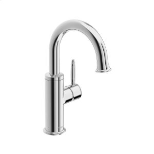 Classic single-hole side-lever basin mixer with pop-up, chrome Product Image