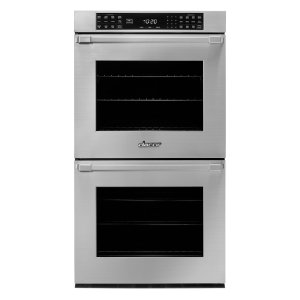 "27"" Heritage Double Wall Oven, Silver Stainless Steel with Pro Style Handle Product Image"